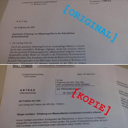 AfD Antrag von CDU kopiert