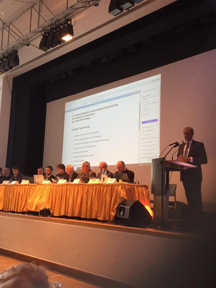 AfD Rheinland Pfalz - Landesparteitag in Bingen
